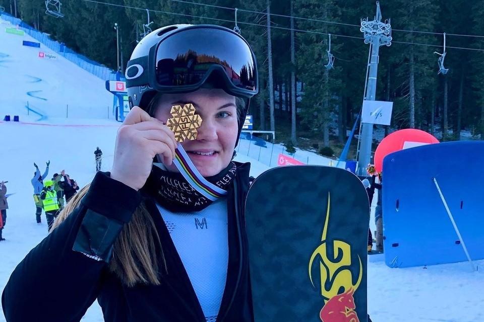Золото стало второй медалью сахалинской спортсменки на ЧМ, ранее она выиграла серебро в слалом-гиганте. фото:Instagram @nadyrshina.s