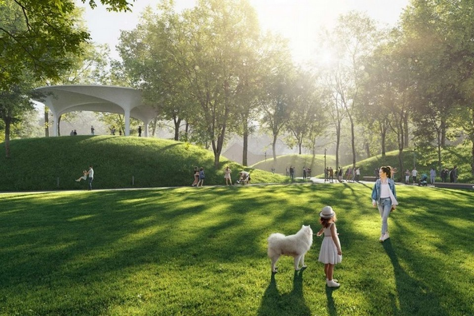 В обновленном парке Минного городка каждый найдет развлечения и отдых по душе. Фото: Разработка проекта развития общественного пространства парка Минного городка. Концепция