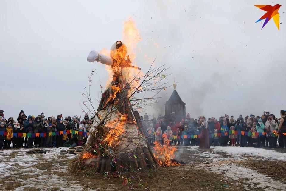 Как праздновали Масленицу-2021 в Станьково.