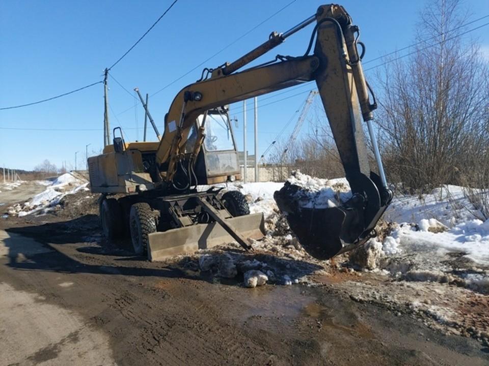 Дорожные службы делают все возможное, чтобы избежать подтопления территорий Фото: пресс-служба Ижевска