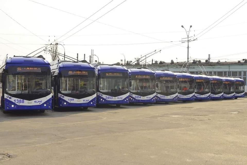 За последние полгода в Кишинев были доставлены 50 троллейбусов. Фото:facebook.com/Ion.Ceban