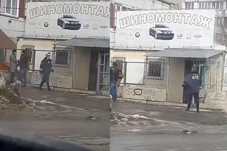 По словам авторов видео, действие происходит в Кировском районе города. Фото: Кадр из видео