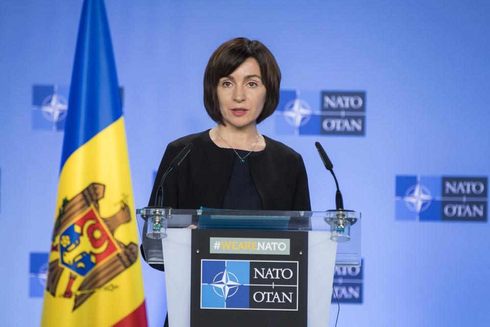 Майя Санду призвала руководство Минобороны и Национальной армии более активно участвовать в проекте НАТО. Фото:соцсети