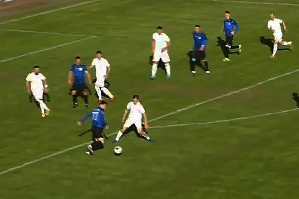 Фото: кадр из прямой трансляции матча.