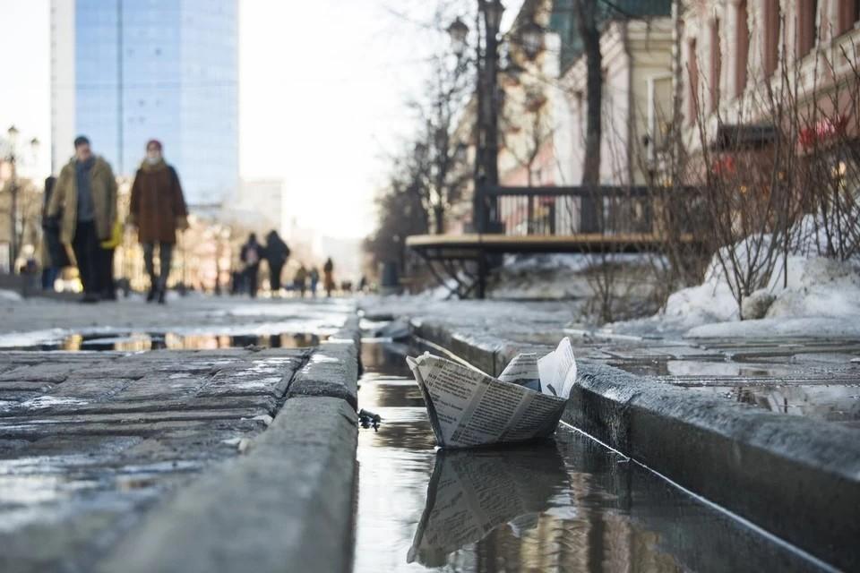 Снег на Южном Урале еще не успел окончательно растаять