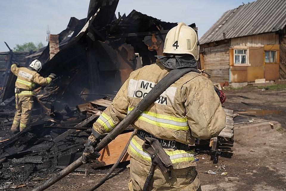 Дом выгорел дотла