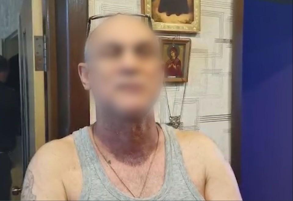 Фото - скрин из оперативного видео задержания волгоградского авторитета.