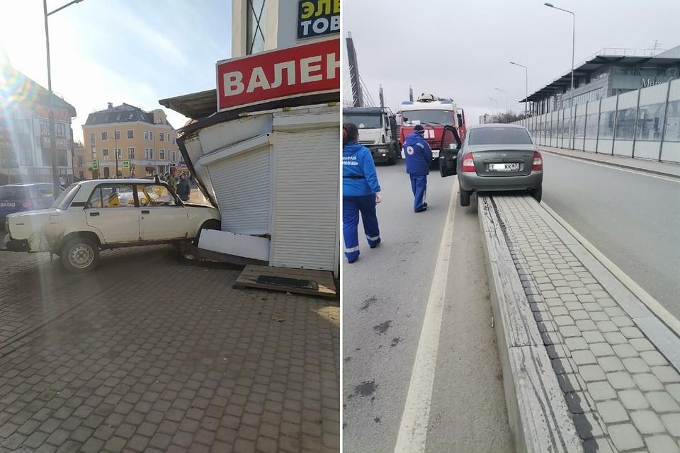 Два необычных ДТП произошло 8 апреля. Фото: vk.com/spb_today