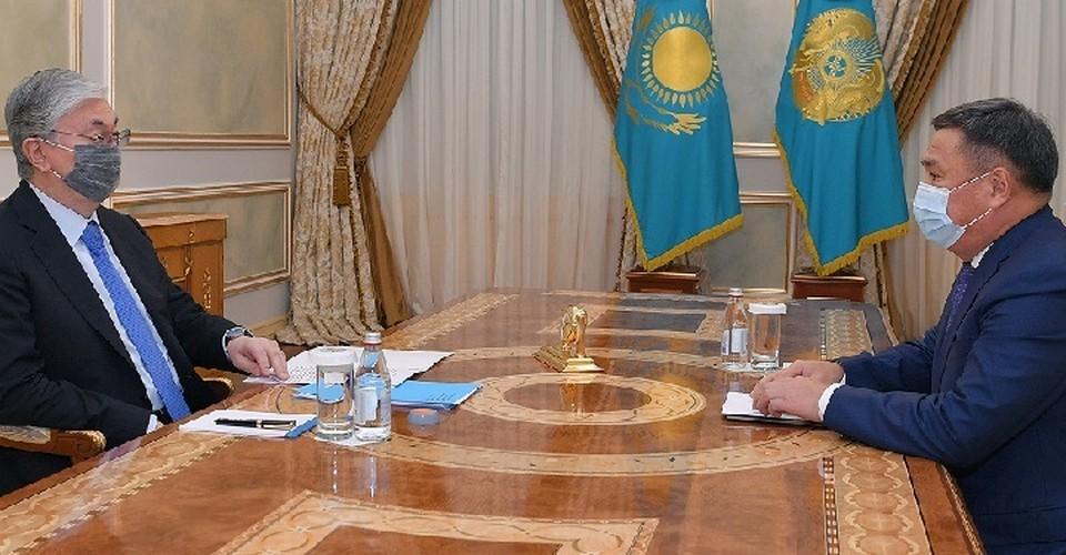 Главе государства было доложено о ходе реализации поручений, данных на совещании по противодействию коррупции 16 апреля нынешнего года.