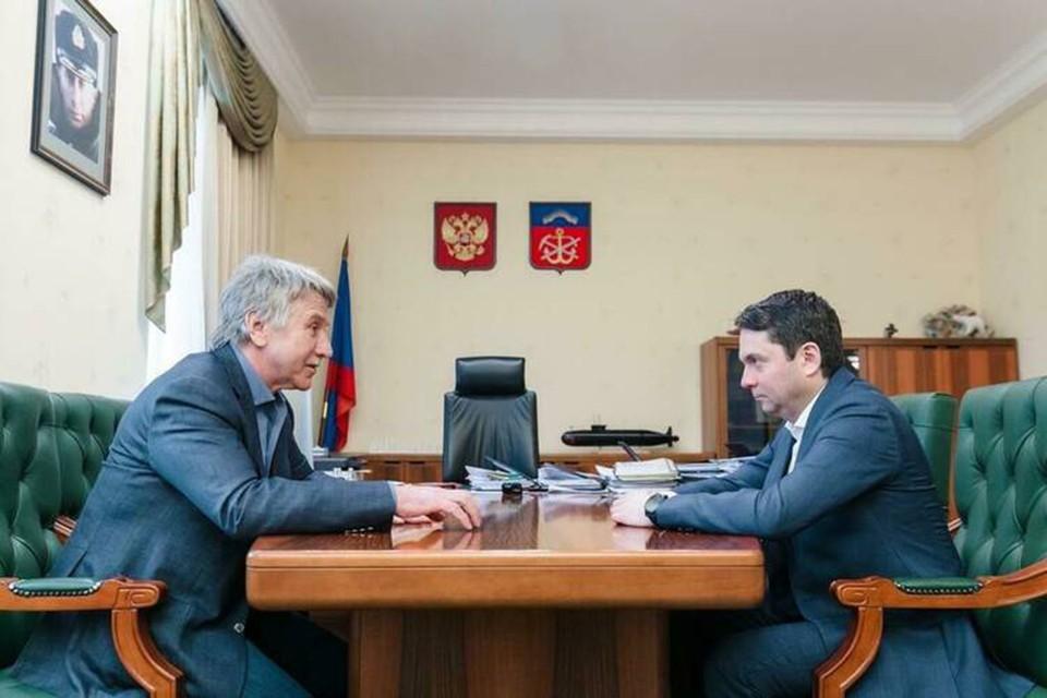 Глава компании отметил, что мощности в регионе будут наращиваться, количество компаний-подрядчиков в Белокаменке вырастет. Фото: Правительство Мурманской области.