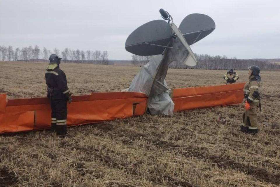 """Два человека погибли при падении легкомоторного самолета в Иркутской области. Фото: предоставлено """"КП""""-""""Иркутск"""""""