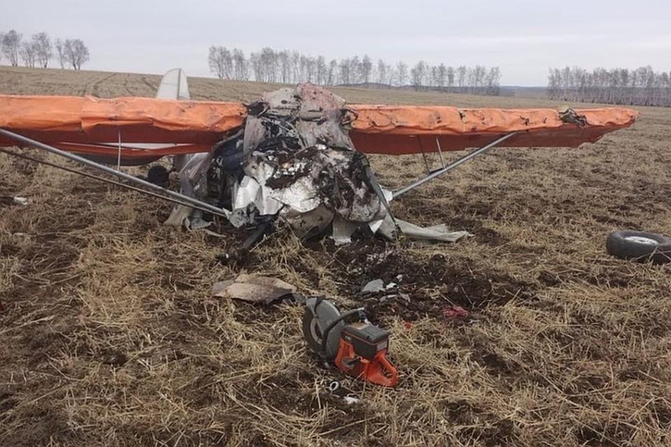 Видео с места крушения самолета в Иркутской области 23 апреля 2021 года появилось в сети.