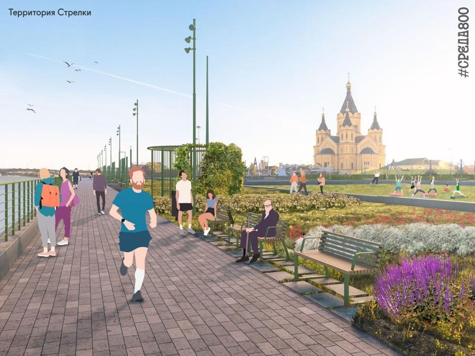 Благоустройство Стрелки к 800-летию города началось в Нижнем Новгороде