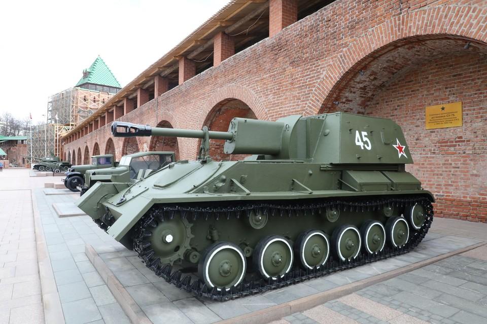 В Нижегородском кремле к 9 Мая отреставрируют военную технику.