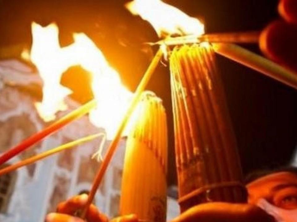 Благодатный огонь доставят в Кишинев вечером 1 мая.