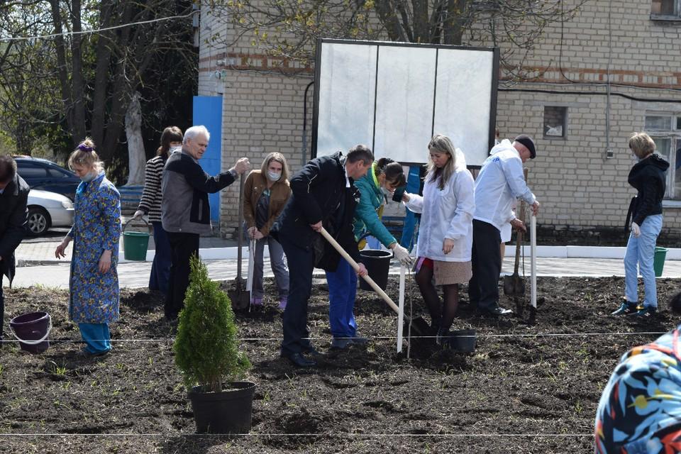 Сад заложили в память о медицинских работниках района, воевавших в годы Великой Отечественной войны.