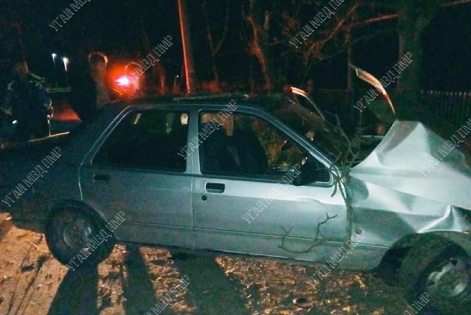 Пьяный водитель не справился с управлением (Фото: МВД Приднестровья).