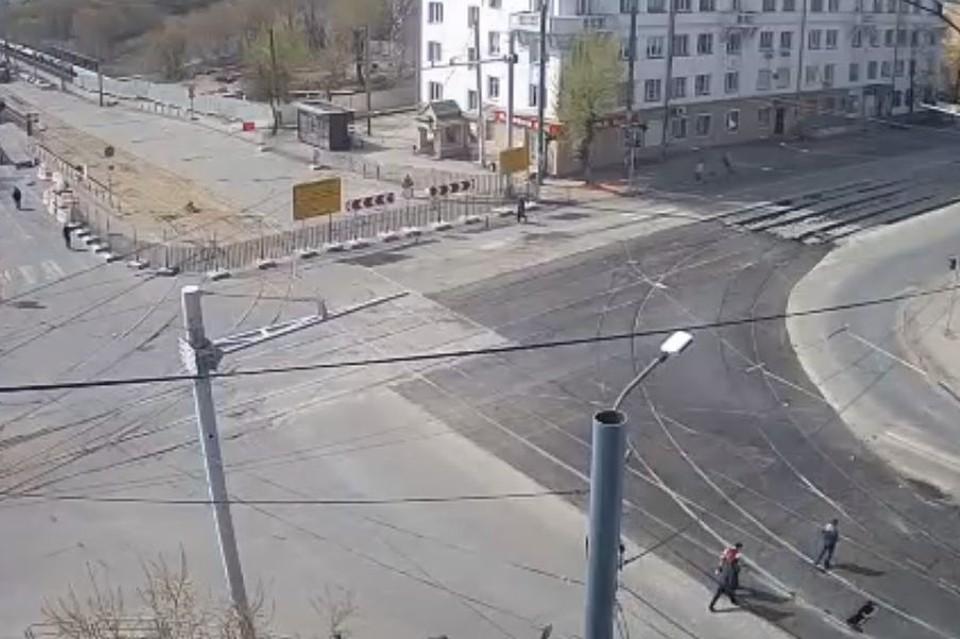 Так сейчас выглядит перекресток Российской и Победы. Фото: камеры «Интерсвязи»