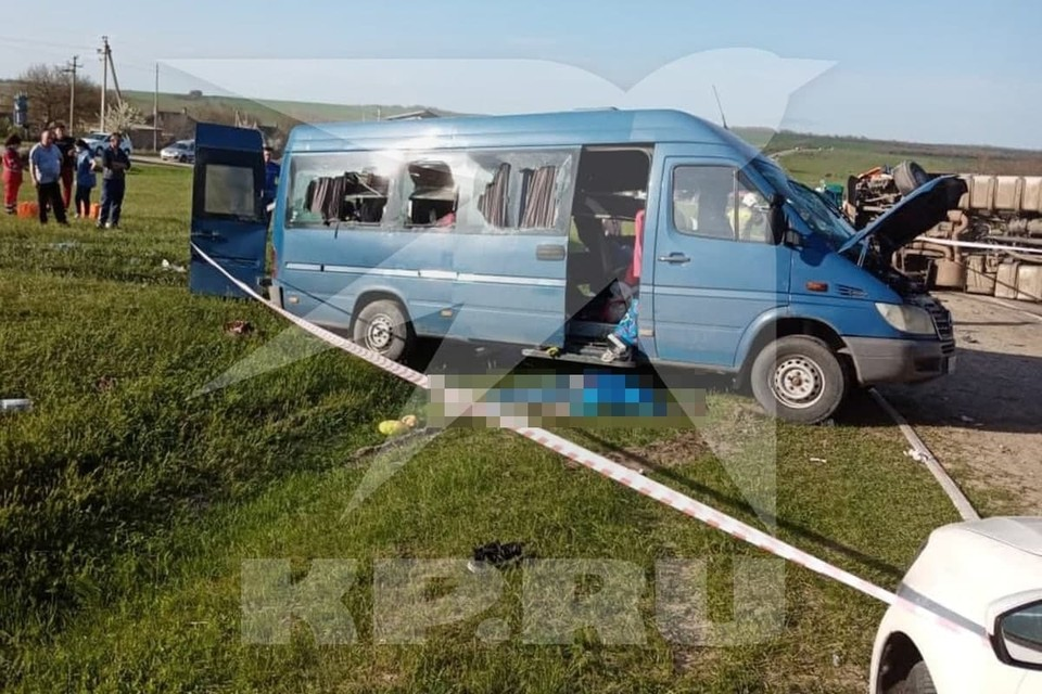 Фото с места ДТП предоставлено очевидцами.