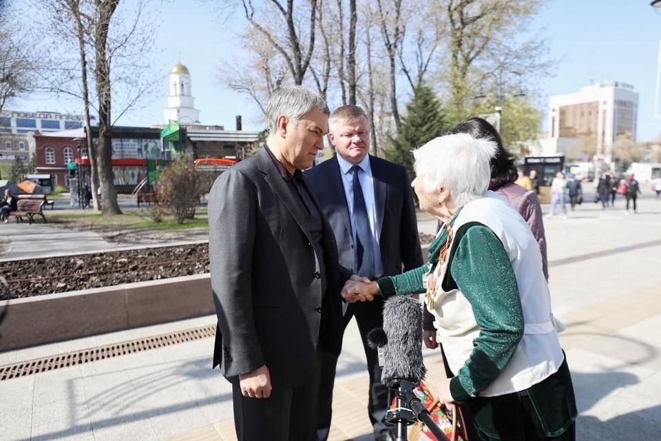 Вячеслав Володин пообщался с жителями Саратова