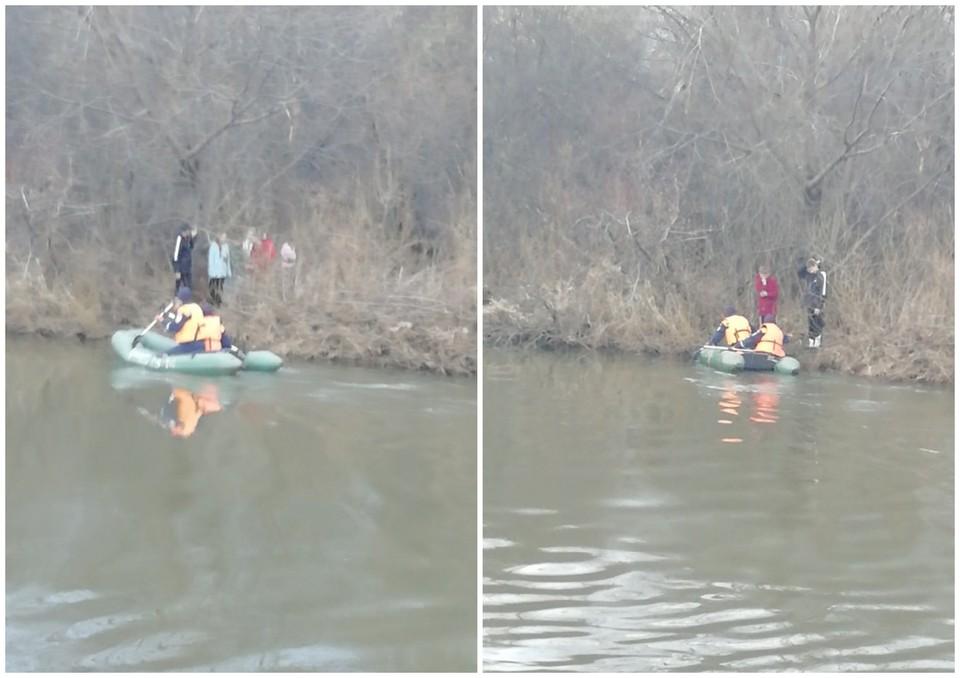 Детей пришлось переправлять через бурную реку Ай. Фото: Поисково-спасательная служба Челябинской области