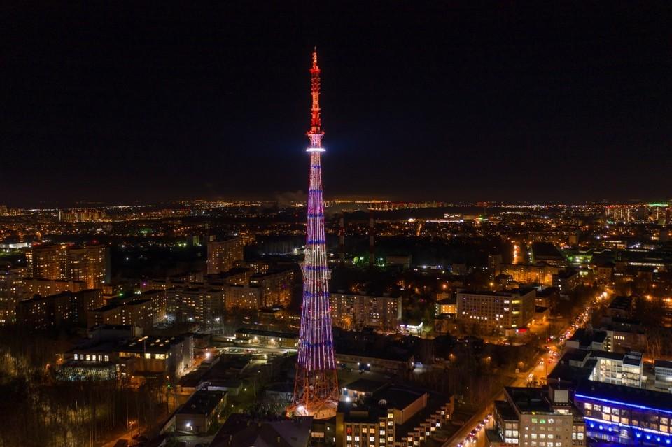 Подсветку нижегородской телебашни модернизировали к 800-летию города