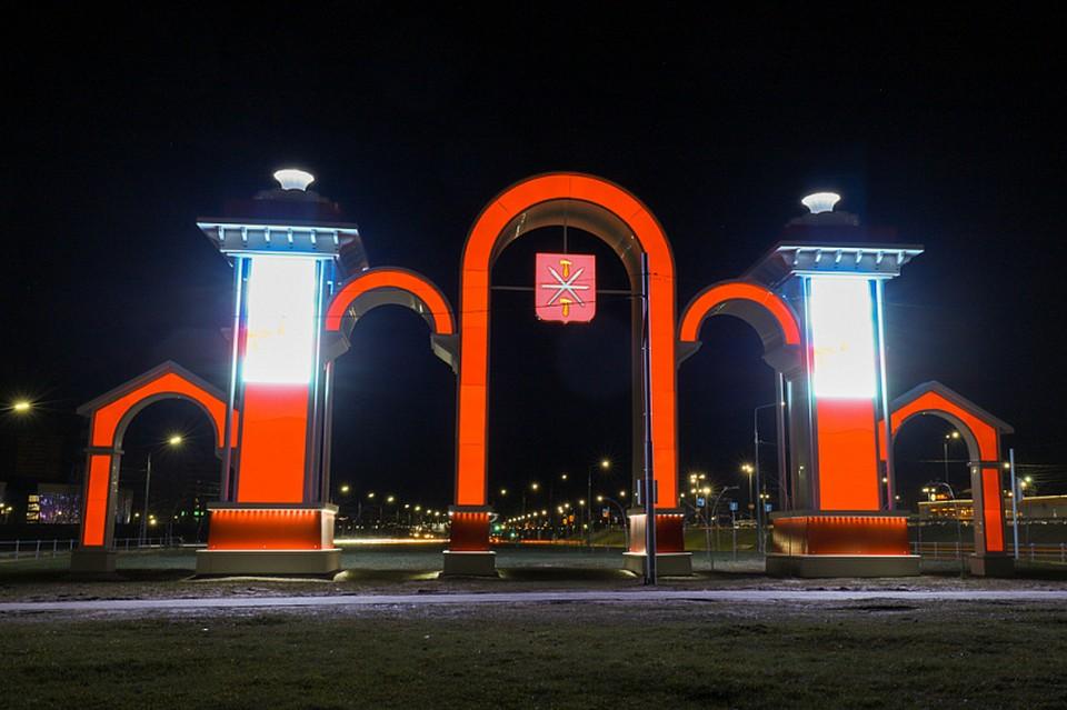 В Туле по-новому оформили арку на улице Рязанской