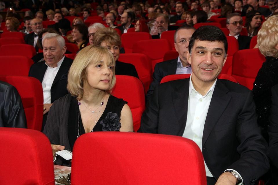 Вера Глаголева с мужем Кириллом Шубским.