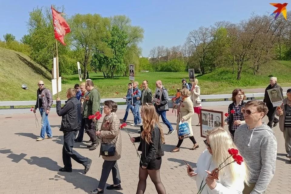 В прошлом году участники инициативы «Бессмертный полк» устроили акцию в Бресте