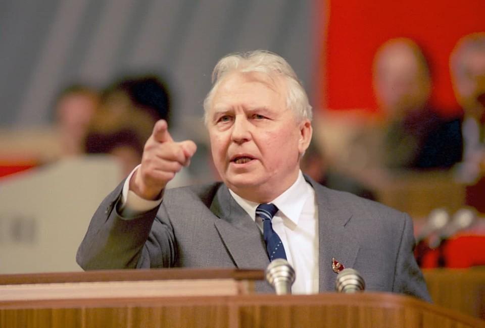 Егор Кузьмич Лигачев выступает на XXVIII съезде КПСС. Фото Валентина Соболева /Фотохроника ТАСС