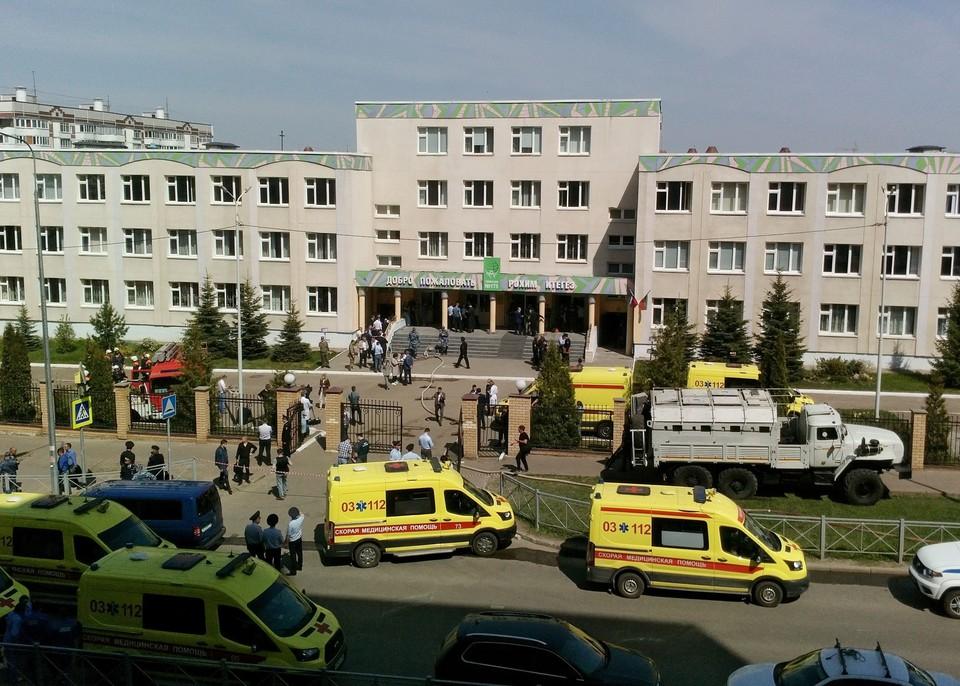 Видео, как дети прятались в кабинетах во время стрельбы в школе в Казани, появилось в сети