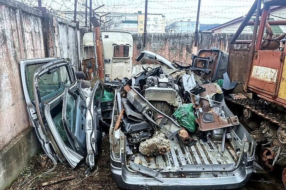 Это все, что осталось от машины. Фото: пресс-служба МО МВД России «Кавалеровский».