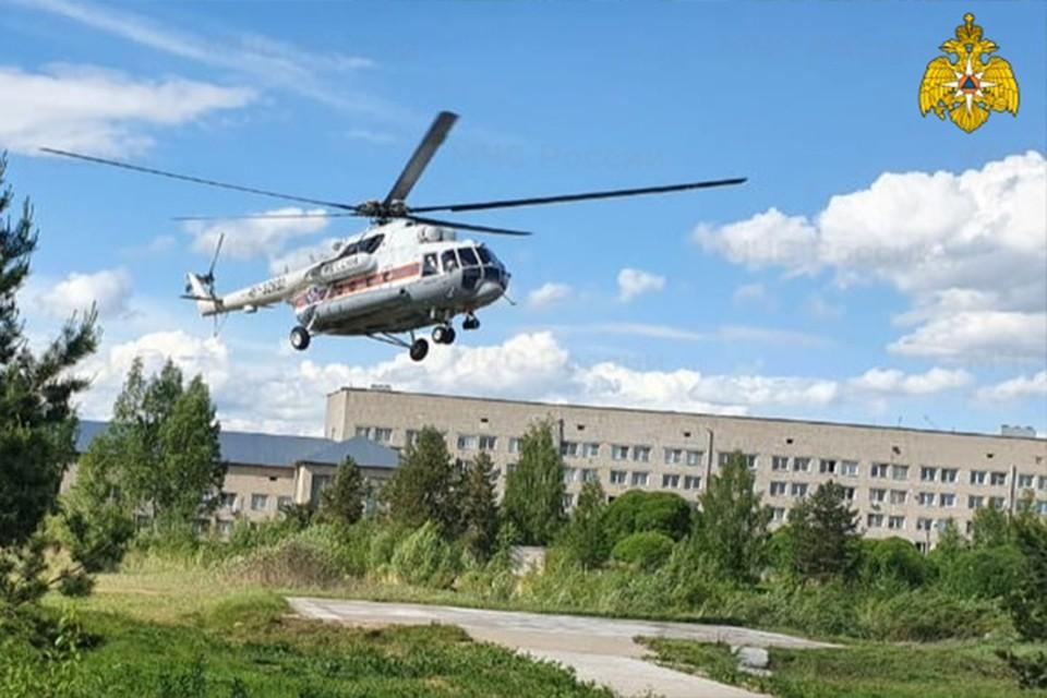 Вертолет санавиации срочно вылетал в Удомельскую медсанчасть Фото: ГУ МЧС России по Тверской области