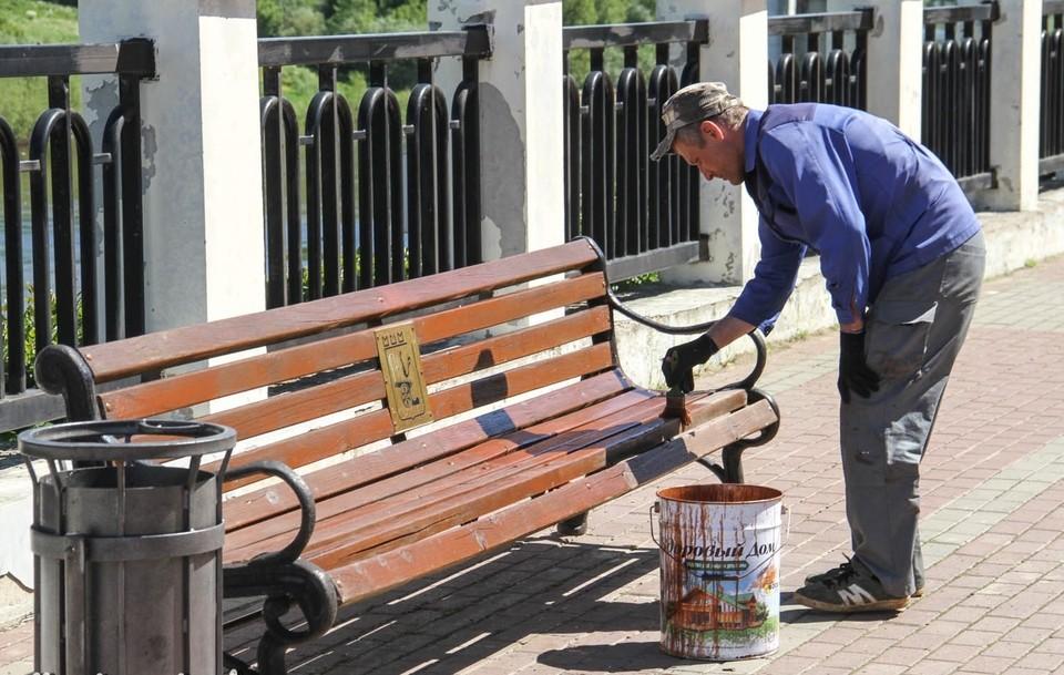 Работы по благоустройству прошли на набережной в Смоленске. Фото: администрация г. Смоленска.