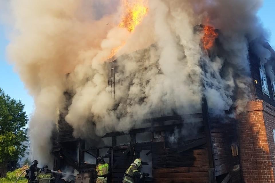 Площадь пожара составила 136 квадратных метров.