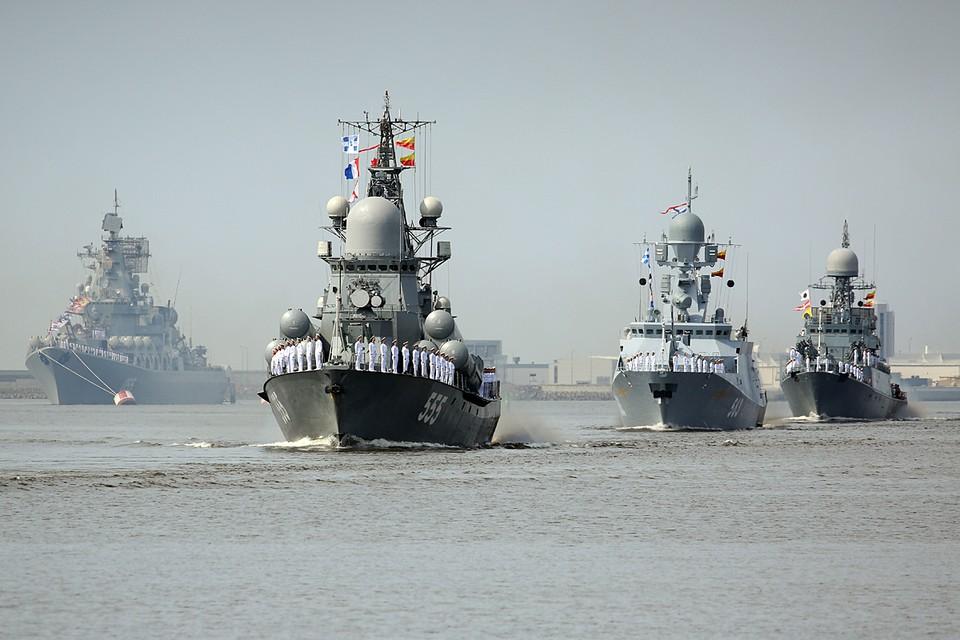 Юбилейный парад пройдёт в год 325-летия российского флота