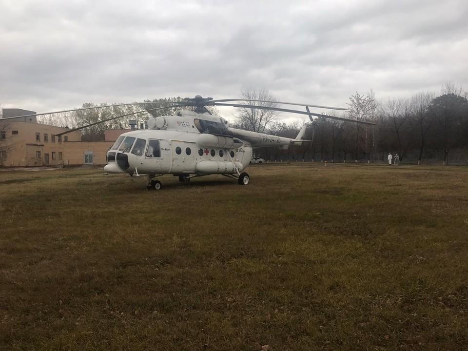 Вертолет санавиации в Самарской области за месяц совершил 14 вылетов