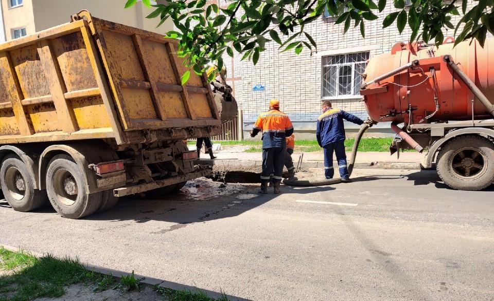 Перекрыт участок дороги между улицами Королева и Добровольского.
