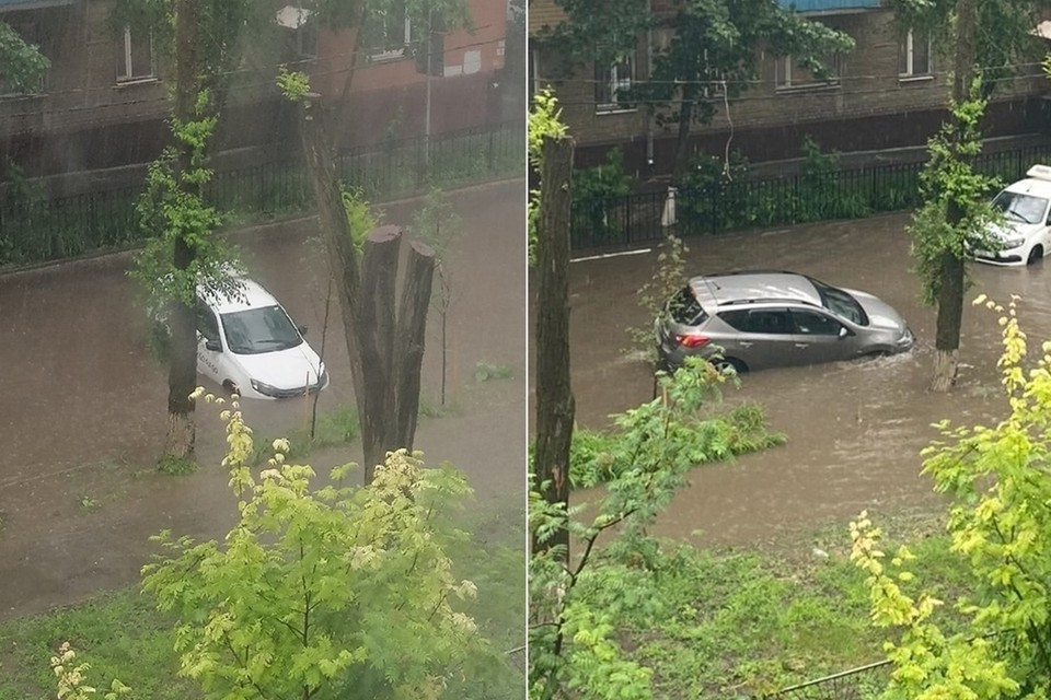 Потоп произошел на переулке Трудовых резервов. Фото: vk.com/taganrog_dps.