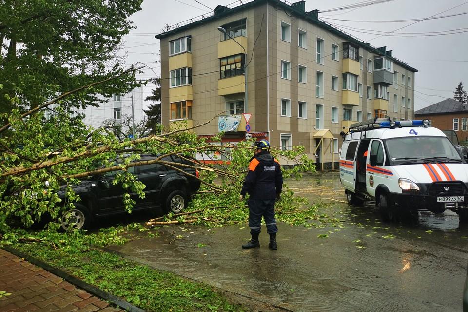 На место для ликвидации последствий циклона прибыли спасатели ПСО имени Полякова.
