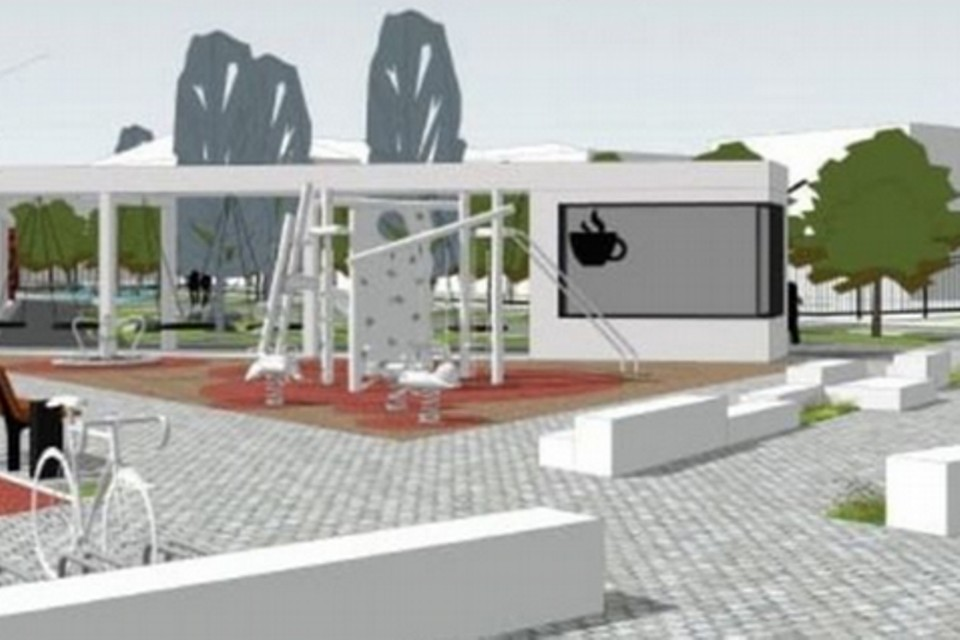 Макет будущего сквера в Ижевске