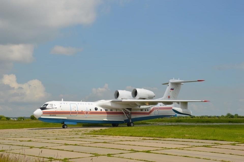 Самолет-амфибия Бе-200 полетел из Хабаровска в Якутию тушить пожары