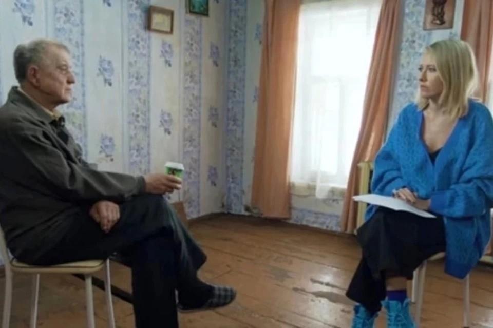 Netflix купит фильм Собчак о скопинском маньяке. Фото: стоп-кадр фильма-интервью Ксении Собчак.