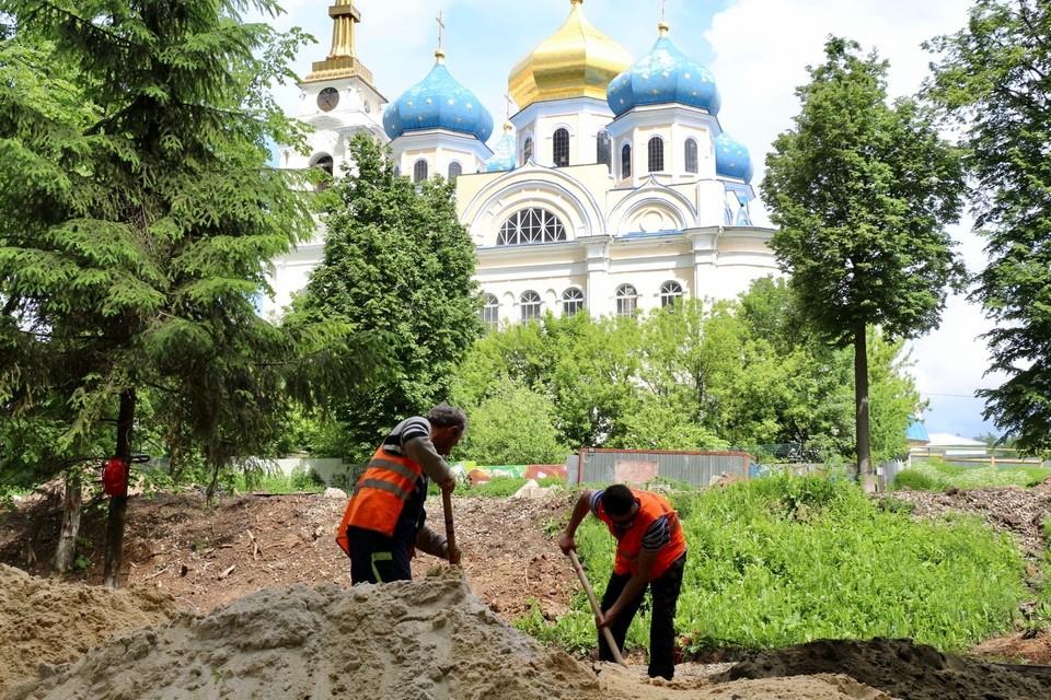 Парк «Сад-Городок» в Болхове на стадии реконструкции. Фото: https://vk.com/klychkov_andrey_official