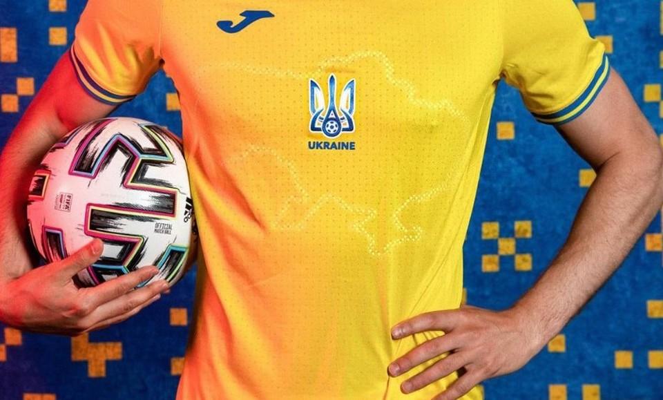 На форме сборной Украины изображены очертания страны с Крымом. Фото: Facebook Андрей Павелко