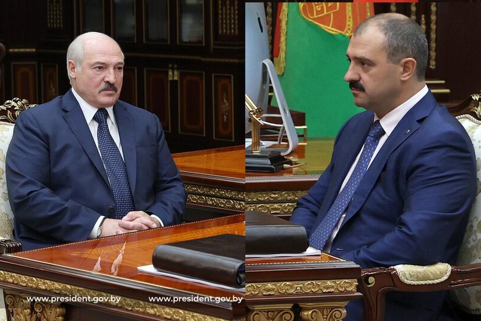 Александр Лукашенко встретился с Виктором Лукашенко. Фото: коллаж снимков пресс-службы президента
