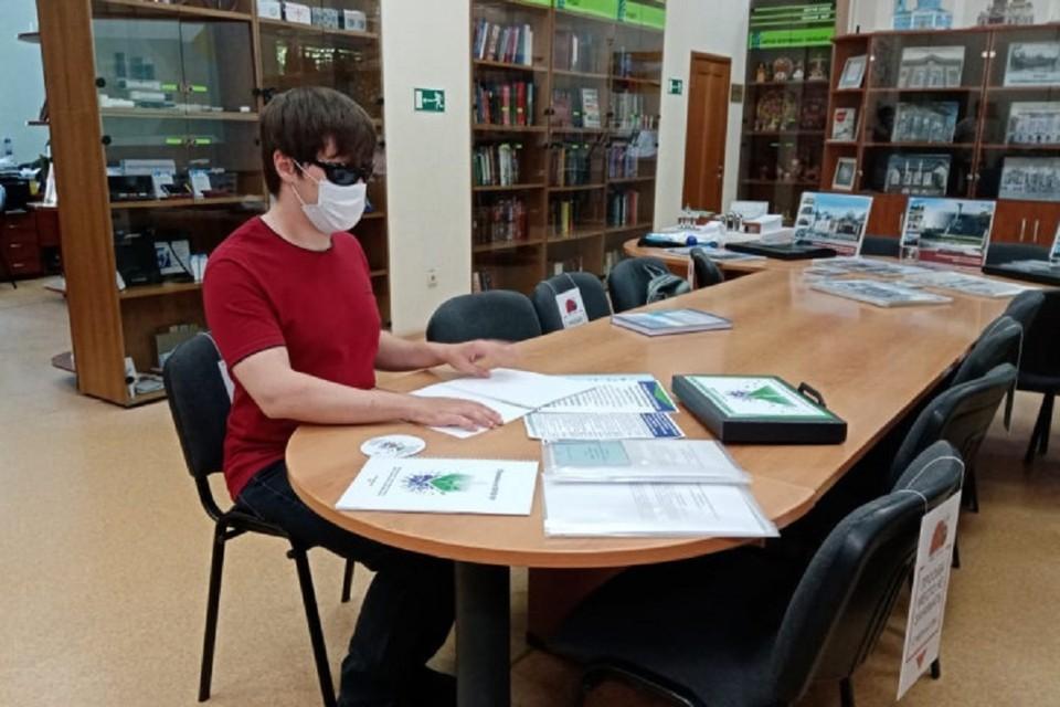 Новосибирская библиотека для незрячих собрала «Антиковидный чемоданчик». Фото: предоставлено правительством НСО.