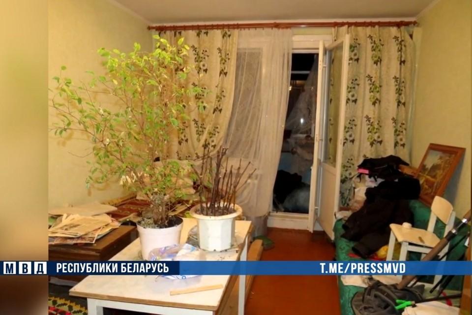 Лидчанин спрятал тело убитого знакомого на балконе. Фото: стоп-кадр   видео МВД