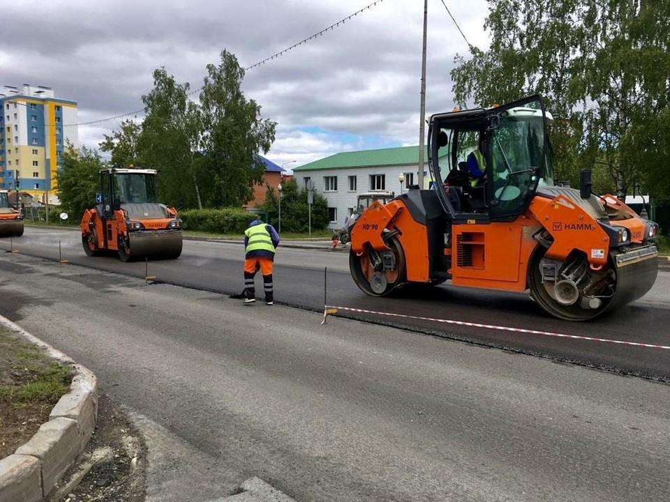 В Ханты-Мансийске продолжается ремонт дорожных участков Фото: Городской информационный центр