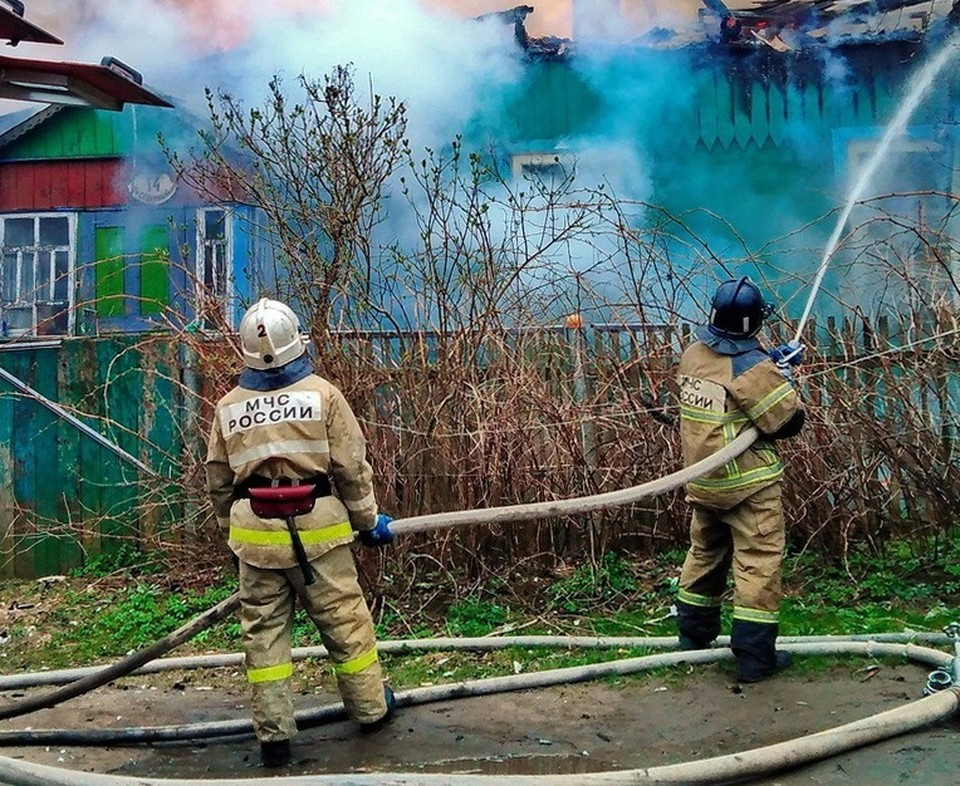 36 человек погибли при пожарах в 2021 году в Смоленской области. Фото: ГУ МЧС России по Смоленской области.